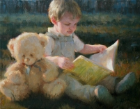 An Afternoon with Teddy, 11 x 14 in