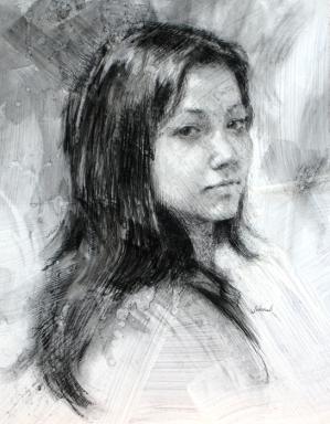 Christine, 10 x 8 in, NA